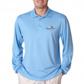 Eggspectation Mens Server Long Sleeve Polo